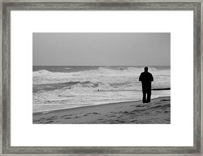 Observing - Jersey Shore Framed Print
