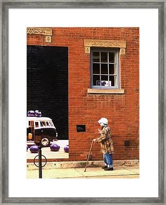 Observing Building Art Framed Print