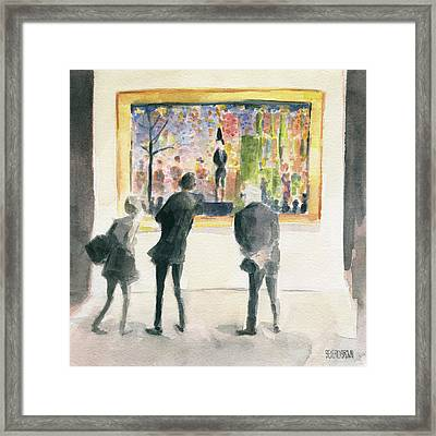 Observing Seurat Framed Print by Beverly Brown
