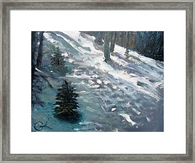 Framed Print featuring the painting Observing Snow by Gary Coleman