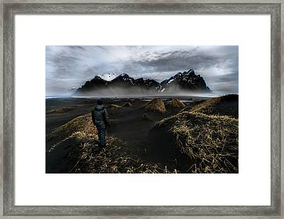 Observing The Beauty Of Iceland Framed Print