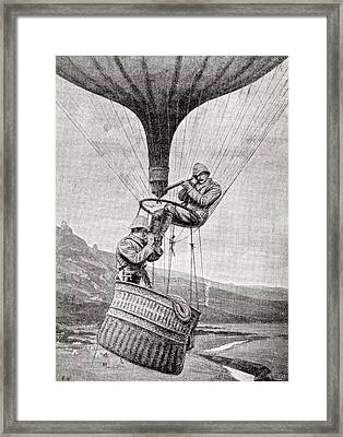 Observing The Enemy From A Military Framed Print by Vintage Design Pics