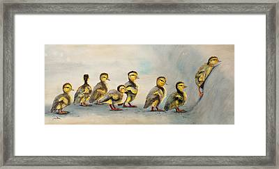 Obstacle Course Framed Print by Dee Carpenter