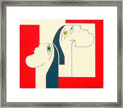 Obstinate Framed Print by Hildegarde Handsaeme