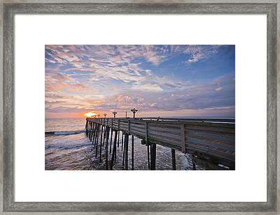 Obx Sunrise Framed Print by Adam Romanowicz