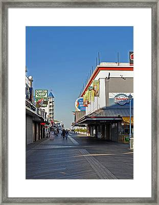 Oc Boardwalk Framed Print