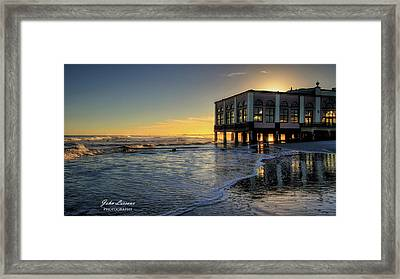Oc Music Pier Sunset Framed Print