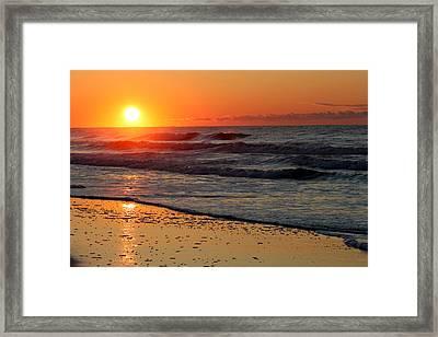 Oc Sunrise Framed Print