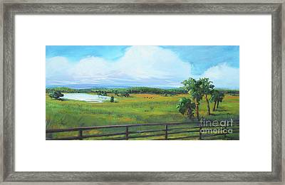 Ocala Downs Framed Print by Michele Hollister - for Nancy Asbell