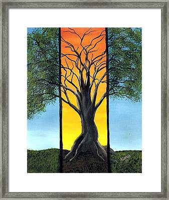 Framed Print featuring the painting Ocaso by Edwin Alverio