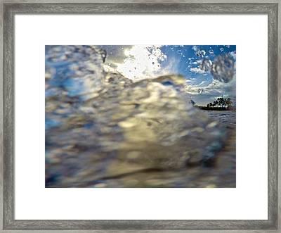 Occluded Beach Framed Print by Steven Lapkin