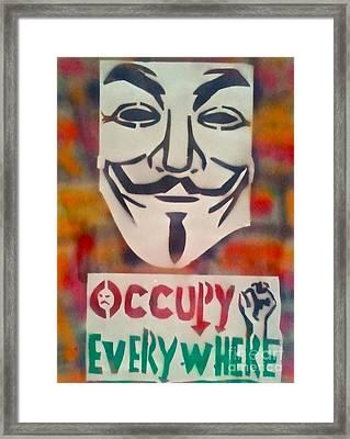 Occupy Mask Framed Print by Tony B Conscious