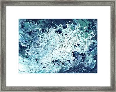 Ocean- Abstract Art By Linda Woods Framed Print