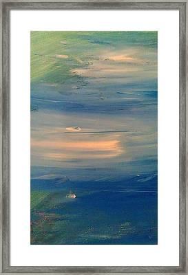 Ocean Abstract Framed Print by Brad Scott