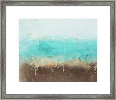 Ocean Abstract Framed Print by Jamaal Moore