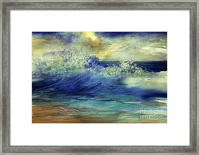 Framed Print featuring the painting Ocean by Allison Ashton