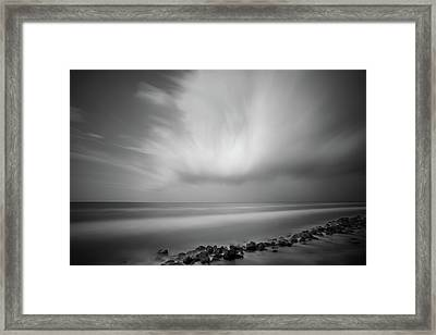 Framed Print featuring the photograph Ocean And Clouds by Todd Aaron