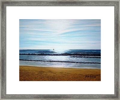 Ocean And Light Framed Print by Madeleine Prochazka