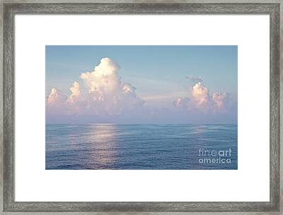 Ocean And Sky Framed Print by Blink Images