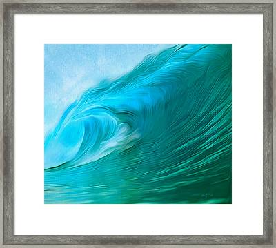 Ocean At Play Framed Print