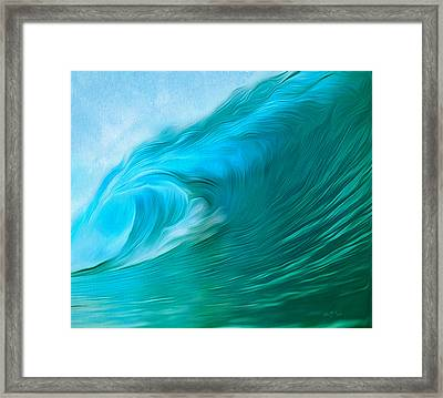 Ocean At Play Larger Version Framed Print