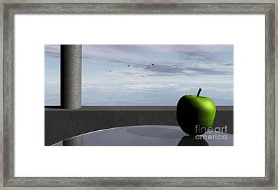 Ocean Balcony Framed Print by Richard Rizzo