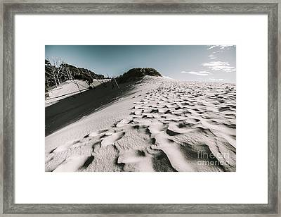Ocean Beach Desert In Tasmania Framed Print by Jorgo Photography - Wall Art Gallery