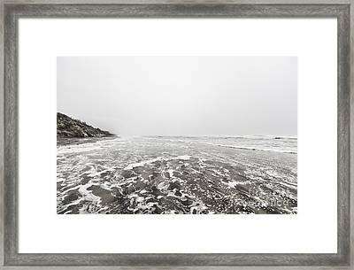 Ocean Beach In Tasmania Framed Print