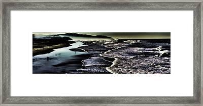 Framed Print featuring the photograph Ocean Beach Night by Steve Siri