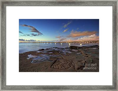 Ocean Beach Pier At Sunset, San Diego, California Framed Print