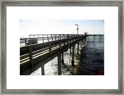 Framed Print featuring the photograph Ocean Beach Pier by Christopher Woods