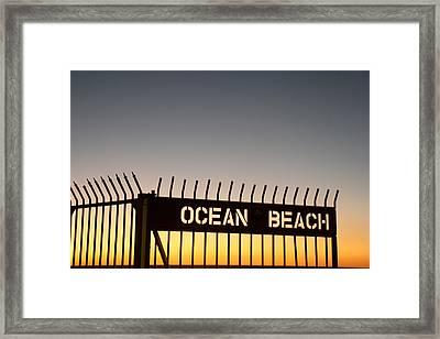 Ocean Beach Pier Gate Framed Print