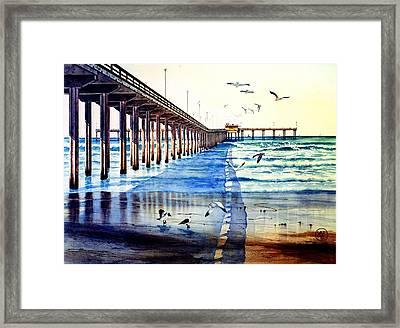 Ocean Beach Pier Framed Print