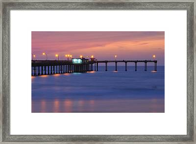 Ocean Beach Pier Framed Print by Kelly Wade