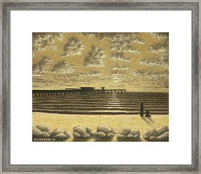 Ocean Beach Pier Sunset 01 Framed Print