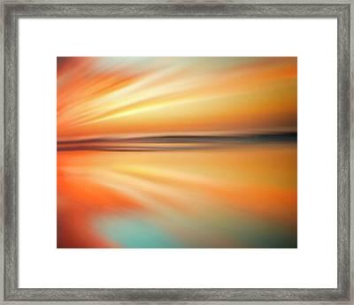 Ocean Beach Sunset Abstract Framed Print