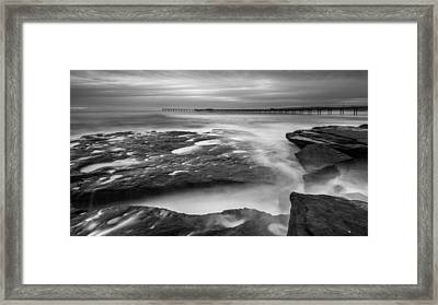 Ocean Beach Tidepools And Pier Framed Print