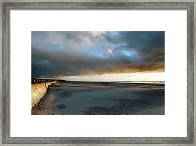 Ocean Beach Under Cover Framed Print by Daniel Furon