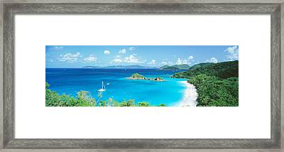 Ocean, Beach, Water, Trunk Bay, St Framed Print by Panoramic Images