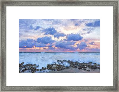 Ocean Blooms II Framed Print by Jon Glaser