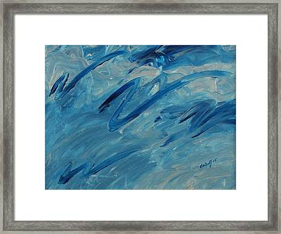 Ocean Blue Framed Print by Celesty  Claudio