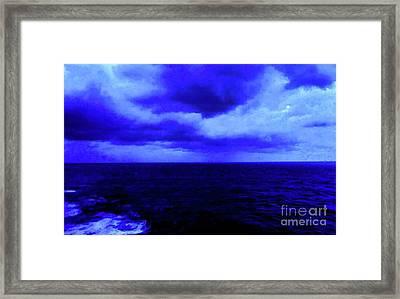 Ocean Blue Digital Painting Framed Print by Robyn King
