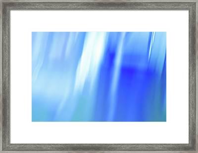 Ocean Blues Abstract Framed Print