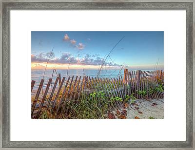 Framed Print featuring the photograph Ocean Blues by Debra and Dave Vanderlaan