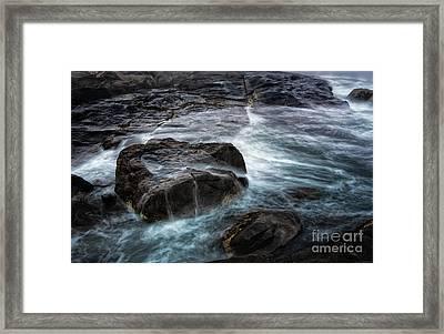 Ocean Boulder Framed Print by Scott Thorp
