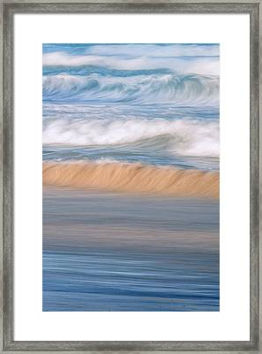 Ocean Caress Framed Print by Az Jackson