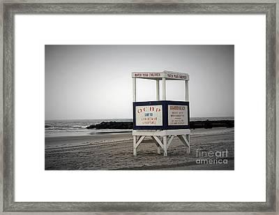 Ocean City Beach  Framed Print by Denise Pohl