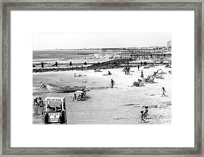 Ocean City Beach Framed Print by John Rizzuto