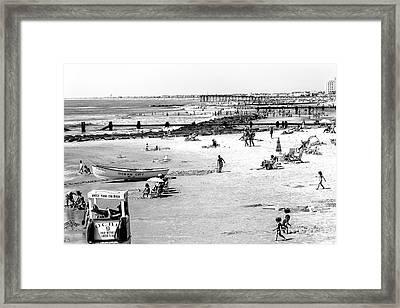 Ocean City Beach Framed Print by John Rizzuto