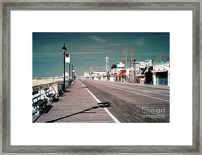 Ocean City Boardwalk Blues Framed Print
